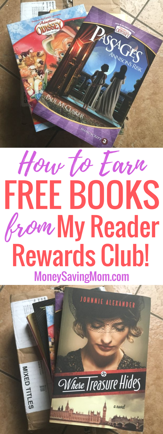 Love to read? Sign up to get FREE books from My Reader Rewards Club!! This is SO easy!