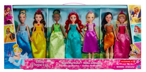 Target: Disney Princess Sparkling Styles 7 Pack Fashion Dolls only $19.50 (regularly $64.99)!