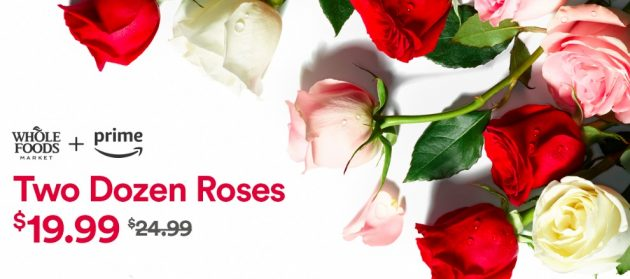Whole Foods: Two Dozen Roses only $19.99 for Amazon Prime Members!
