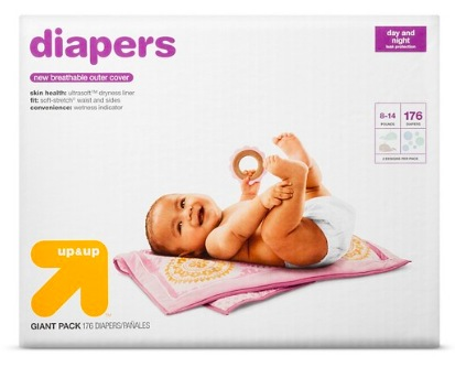 Target.com: Get Up & Up Diapers for only $0.10 each shipped!