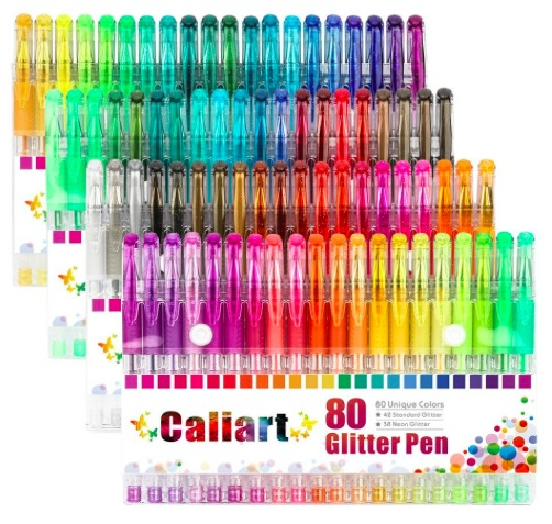 Amazon.com: Caliart Glitter Gel Coloring Pens Set (80 count) only $12.74!
