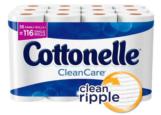 Amazon.com: Cottonelle CleanCare Toilet Paper (Pack of 36 Rolls) only $18.23 shipped!