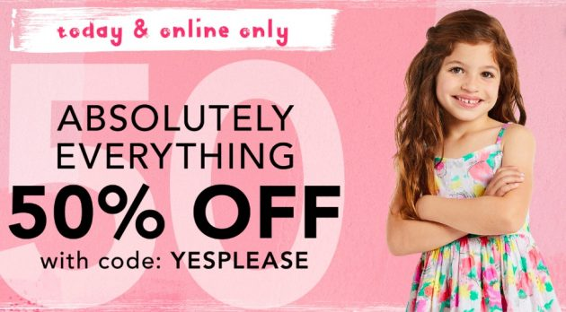 Gymboree: Extra 50% Off Entire Site + Free Shipping!