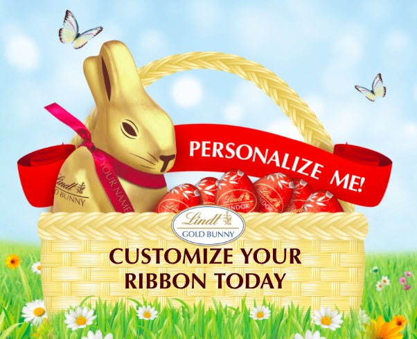 Free Personalized Ribbons from Lindt
