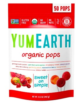 Amazon.com: YumEarth Organic Lollipops (50 count) only $5.32 shipped!
