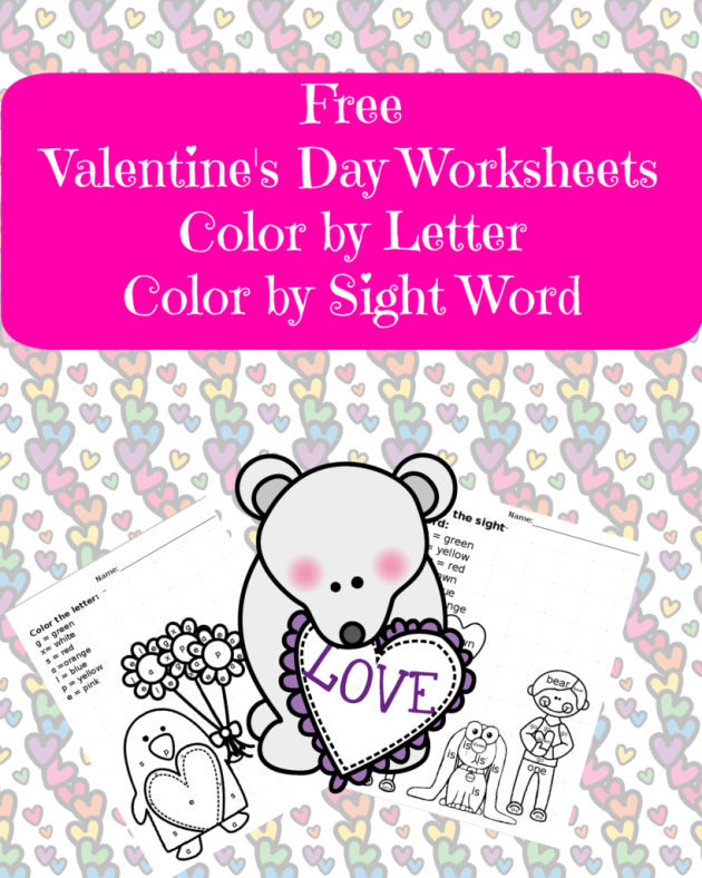 Free Printable Valentine\'s Day Worksheets - Money Saving Mom®