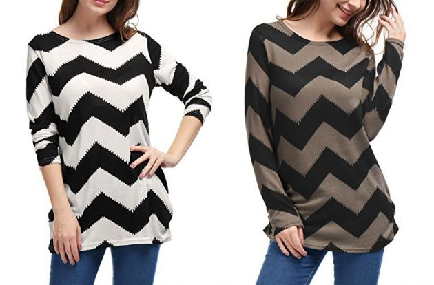 Amazon.com: Women's Chevron Pattern Knitted Tunic Top as low as $4.99!