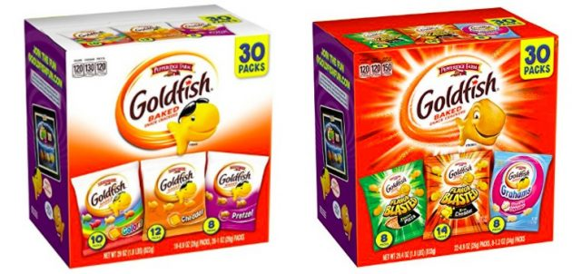 Amazon.com: Goldfish Variety Packs, 30 count only $6.49 shipped!