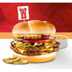 Wendys 1 Double Stack Hamburgers
