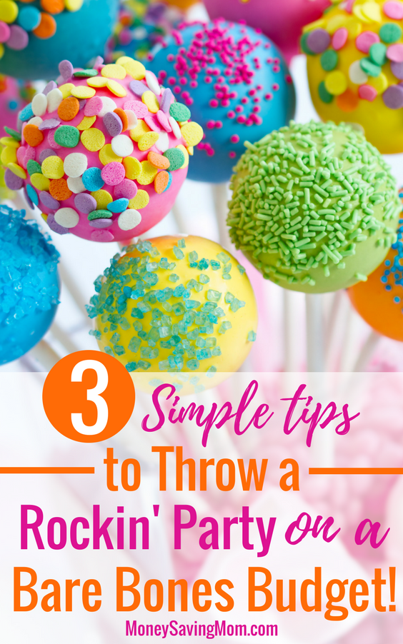 Throw a party on a budget with these super helpful tips! You don't have to break the bank to throw a rockin' party, shower, or get-together!