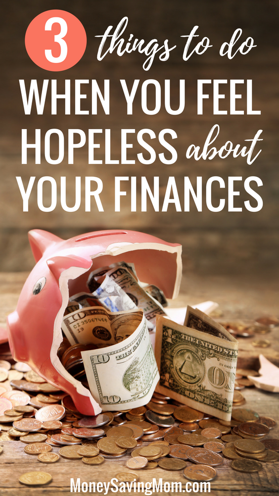 Do you feel hopeless about your finances? Try these 3 simple things for momentum and encouragement