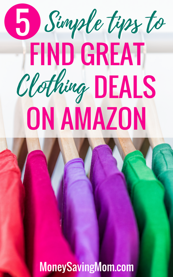 Find great clothing deals on Amazon with these 5 simple tips!!