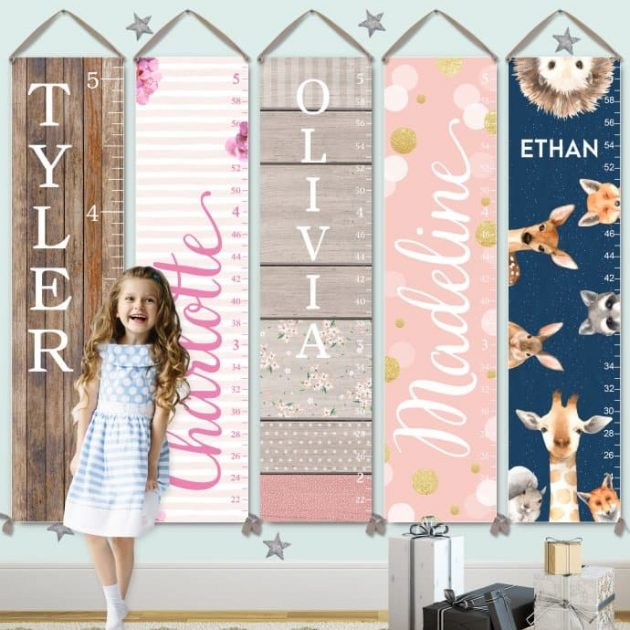 Get a Personalized Kids Growth Chart on Canvas for just $27.99!
