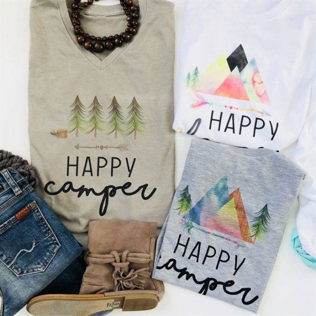 Get Happy Camper and Glamper Tees for just $13.99!