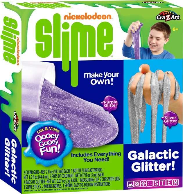 Amazon.com: Nickelodeon Cra-Z-Slime Galactic Glitter Medium Boxed Kit Z only $6.99!