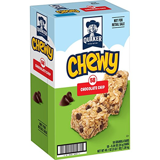 Amazon.com: Quaker Chewy Granola Bars (58 count) only $7.99 shipped!