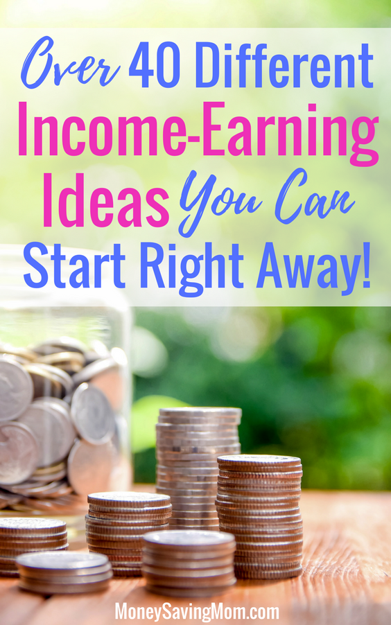 Make extra income with this list of over 40 unique ideas! Some of these are SO easy to start today!