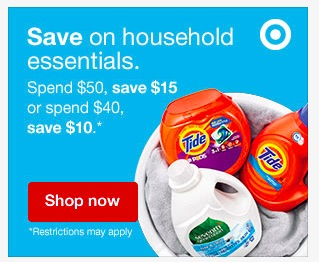 Target: Spend $50 on Household Essentials, Save $15 Instantly!
