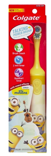 Amazon.com: Colgate Kids Minions Talking Battery Powered Toothbrush only $5!