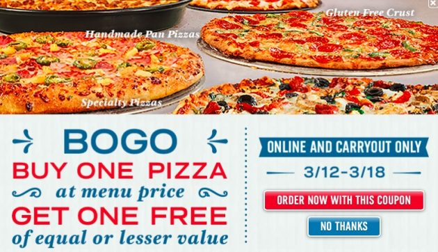 Domino's: Buy One, Get One Free Pizza