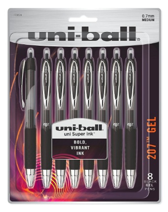 Amazon.com: Uni-Ball 8-Count Black Retractable Gel Pens only $6.04!