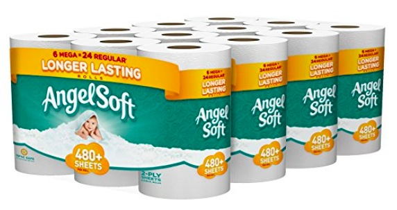 Amazon.com: Angel Soft Toilet Paper, 24 Mega Rolls just $0.37 per double roll!