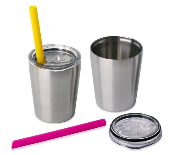 Amazon.com: Two Housavvy Stainless Steel Sippy Cup with Lids and Straws only $11.99!