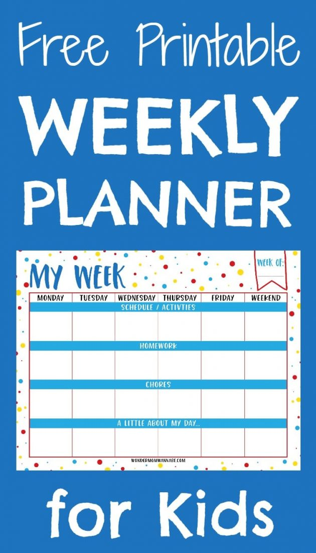 Homework planner for kids