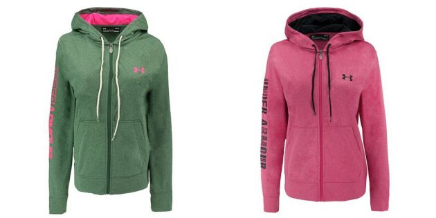 Get a Women's Under Armour Fleece Full Zip Hoodie for just $37 shipped (regularly $64.99)!