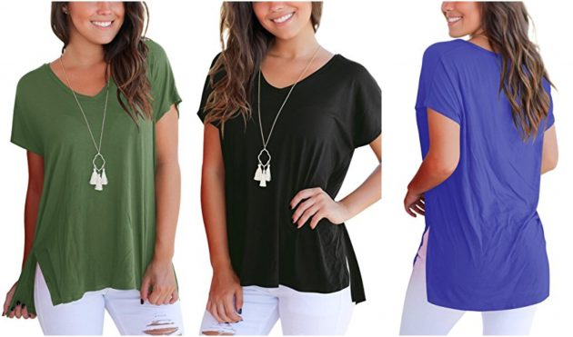 Amazon.com: Aokosor Women's Short Sleeve Loose Tee only $10.49!