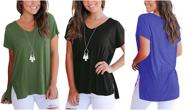 Amazon.com: Aokosor Women's Short Sleeve Loose Tee only $10.49!