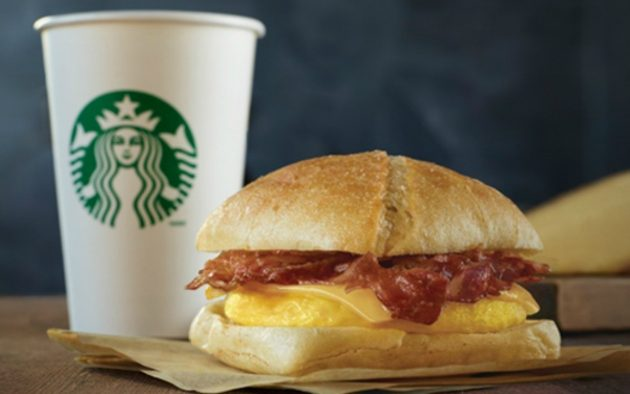 Starbucks Rewards Members: Possible Free Breakfast Sandwich with Any Purchase!