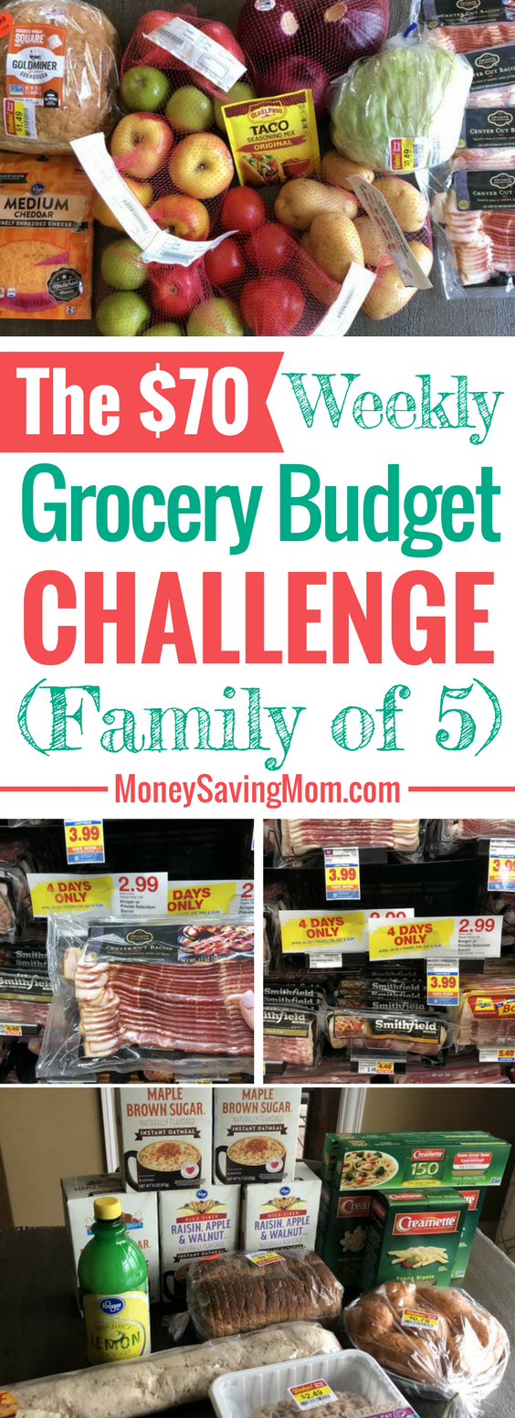 The $70 Grocery Budget Challenge: Shopping the Kroger markdowns for a family of 5! This is SO inspiring!