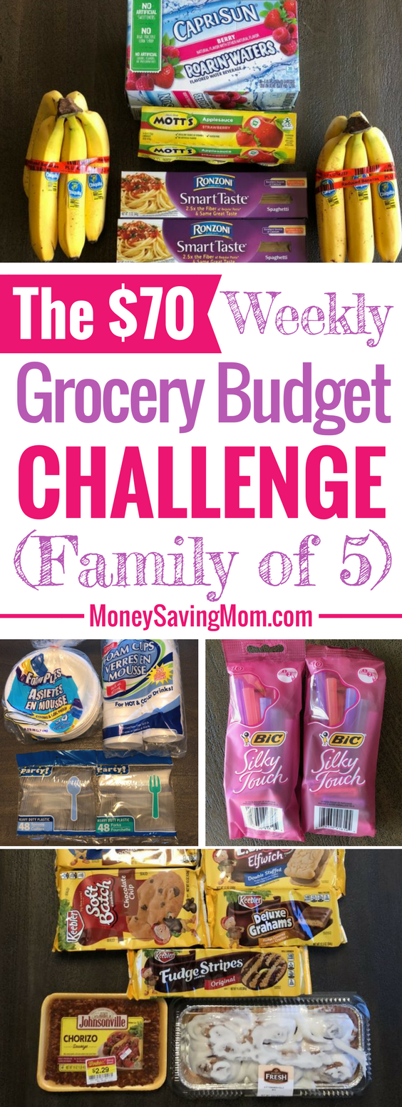 The $70 Grocery Budget Challenge! This family of 5 plans their entire weekly menu around the markdowns at Kroger! It's SO cool!