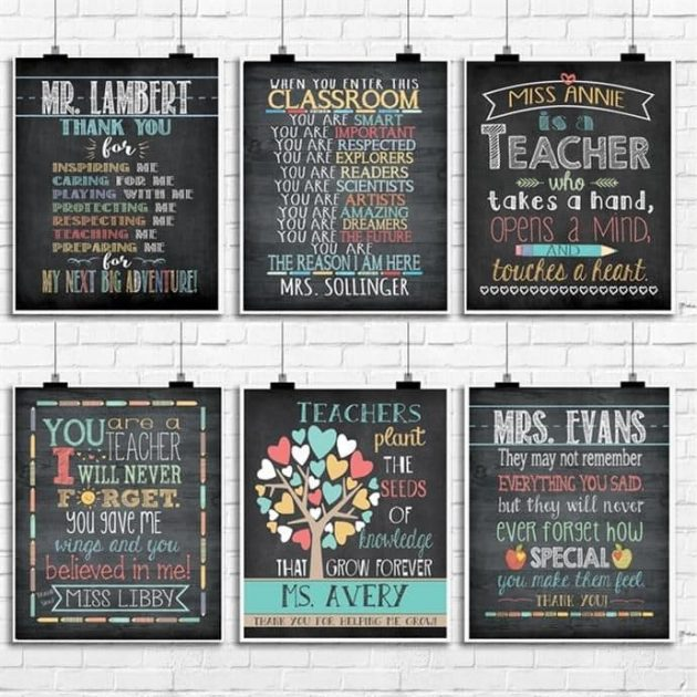 Get Teacher Name Gift Prints for just $4.99!