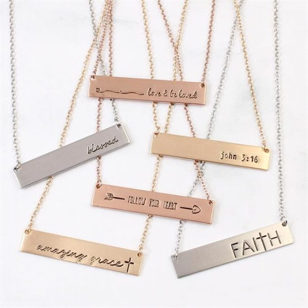 Get a Message Bar Necklace for only $4.99 + shipping!