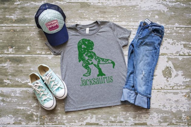 Get a Kid's Personalized Dinosaur Tee for only $14.99 + shipping!