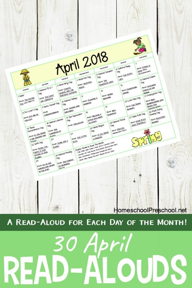 April Reading Calendar : Educational deals freebies archives page of