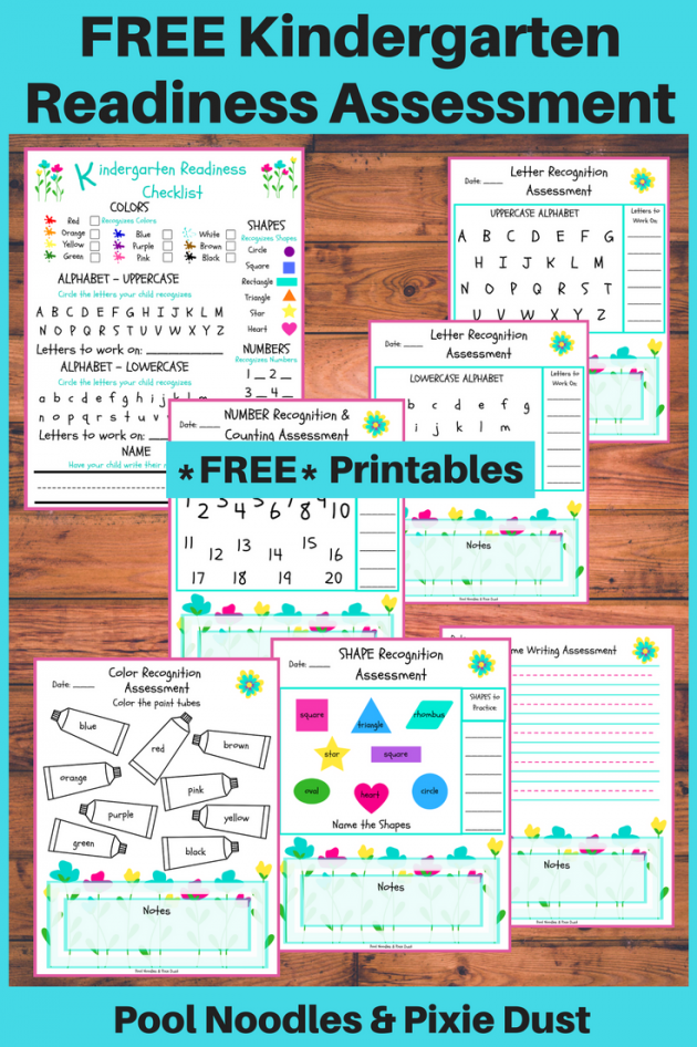 Free Printable Kindergarten Readiness Assessment Money