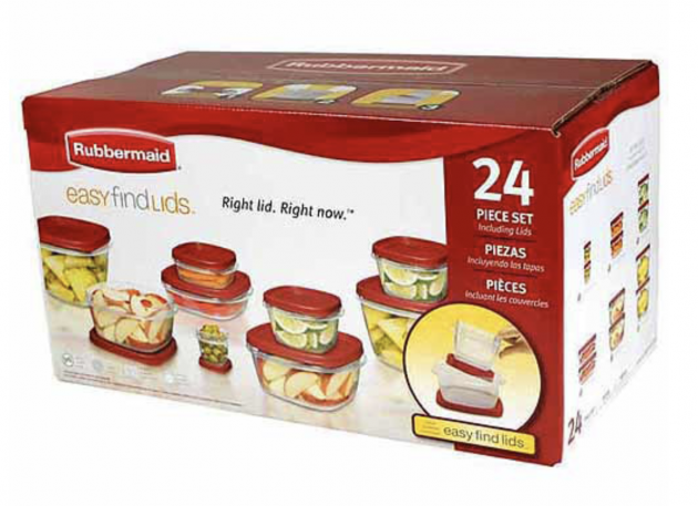 Top Cash Back is offering a $10.66 rebate on a Rubbermaid 24-Piece Food Storage Container Set purchased from Walmart making it free!  sc 1 st  Money Saving Mom & Walmart: Free Rubbermaid 24-Piece Food Storage Container Set after ...