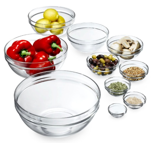 Amazon.com: Luminarc 10-Piece Set Stackable Bowl Set only $15.87!