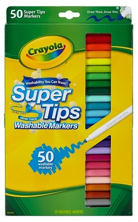 Target.com: Crayola Supertips Markers Washable (50 count) only $6.99!