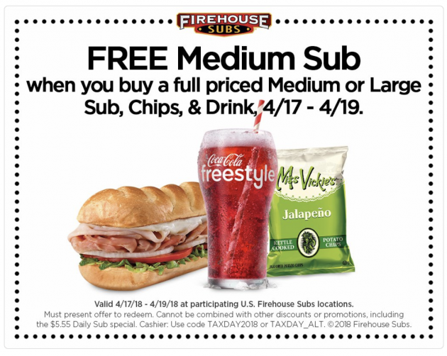 picture about Firehouse Subs Printable Menu known as Firehouse Subs: Invest in 1, Take A person Cost-free Medium Sub Financial