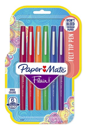 Amazon.com: Paper Mate Flair Felt Tip Pens (6 count) only $3.92, plus more!
