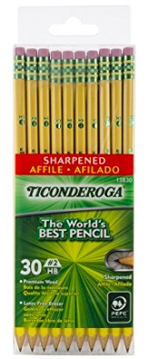 Amazon.com: Dixon Ticonderoga Wood-Cased 2HB Pencils (30 count) only $3.89!