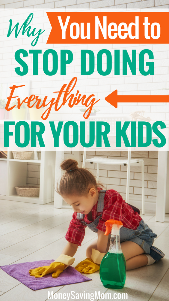 Moms! Listen up! If you stop doing everything for your kids and let them help out, you will reap SO many benefits. This is a GREAT post proving that!