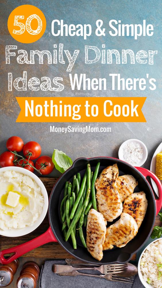 cheap and easy family dinner ideas