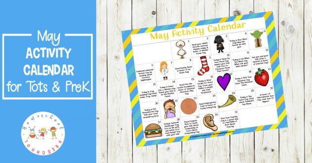 photo relating to Printable Preschool Calendar titled Free of charge Printable Might Preschool Recreation Calendar Income