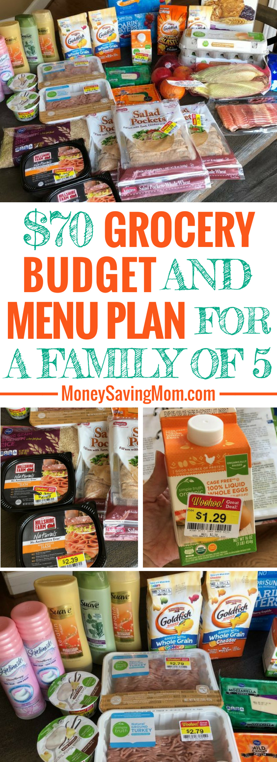 This $70 grocery budget challenge is SO inspiring! And they even menu plan and eat healthy while sticking to their budget each week!
