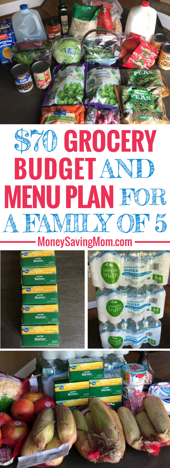 This $70 Grocery Budget Challenge for a family of 5 is SO inspiring!! Follow along for all kinds of great menu planning ideas and savings tips!
